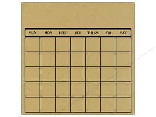 Canvas Corp 12 x 12 in. Paper Bk & Kraft Calendar Stamp (12 piece)