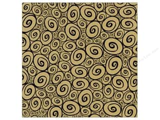 Canvas Corp Paper 12x12 Black Kraft Swirls (15 piece)