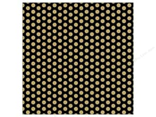 Canvas Corp Paper 12x12 Black Kraft Dot Reverse (15 piece)