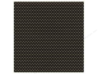Canvas Corp Paper 12x12 Black Kraft Mini Dot Rev (15 piece)