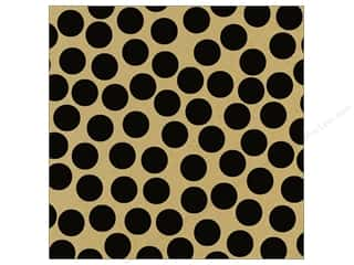 Canvas Corp 12 x 12 in. Paper Black & Kraft Big Dot (15 piece)