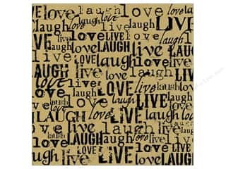 Canvas Corp 12 x 12 in. Paper Black Kraft Live Love (15 piece)