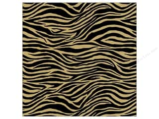 Canvas Corp 12 x 12 in. Paper Black & Kraft Zebra (15 piece)