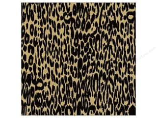 Canvas Corp 12 x 12 in. Paper Black & Kraft Leopard (15 piece)