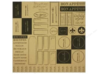 Canvas Corp Paper 12x12 Black Kraft Gourmet Samplr (15 piece)