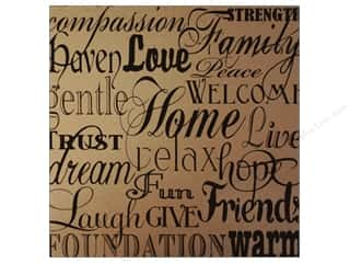 Canvas Corp Paper 12x12 Black Kraft Home Words (15 piece)