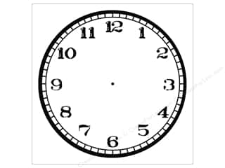Canvas Corp Paper 12x12 Black White Clock Stamped (15 piece)