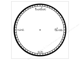 Canvas Corp Paper 12x12 Black White Clock Modern (15 piece)