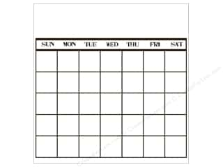 Canvas Corp 12 x 12 in. Paper Bk & White Calendar Stamp (12 piece)