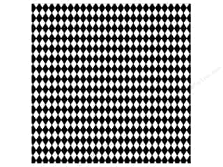 Canvas Corp Paper 12x12 Black White Diamonds (15 piece)