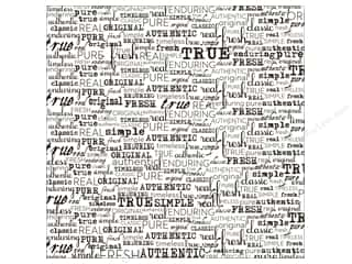 Canvas Corp 12 x 12 in. Paper Black & White Words Fresh (15 piece)