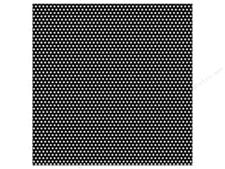 Canvas Corp Paper 12x12 Black White Mini Dot Rev (15 piece)