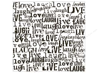 Canvas Corp 12 x 12 in. Paper Bk White Live Love Laugh (15 piece)