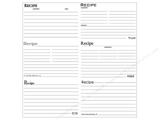 Cards Recipe Cards: Canvas Corp 12 x 12 in. Paper Black & White Recipe Cards (15 pieces)