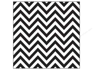 Canvas Corp Paper 12x12 Black White Chevron (15 piece)
