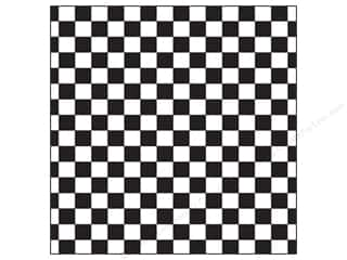 Board Dudes, The 12 x 12: Canvas Corp 12 x 12 in. Paper Black & White Big Check (15 pieces)