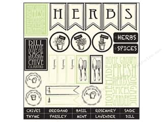 Canvas Corp 12 x 12 in. Paper Herb & Spices On Ivory (15 piece)