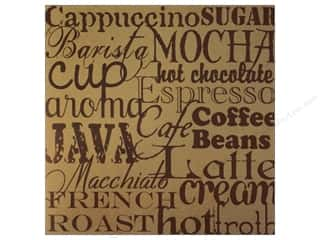 Canvas Corp Paper 12x12 Coffee Words On Kraft (15 piece)