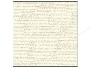 Canvas Corp 12 x 12 in. Paper Tan & Ivory French Script (15 piece)