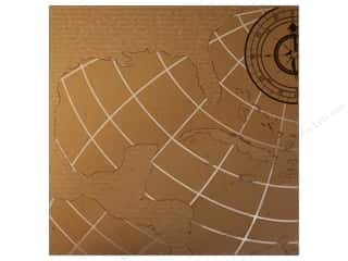 Compass Clearance Crafts: Canvas Corp 12 x 12 in. Paper White on Kraft Caribbean Map (15 pieces)