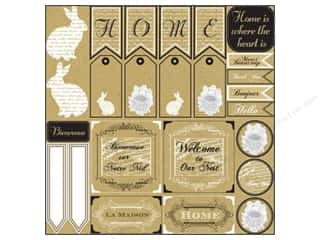 Canvas Corp 12 x 12 in. Paper Wh on Kraft French Home (15 piece)