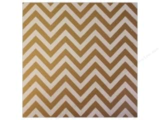 Canvas Corp 12 x 12 in. Paper White on Kraft Chevron (15 piece)
