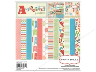 Carta Bella Caption Stickers / Frame Stickers: Carta Bella Collection Kit 12 x 12 in. Alphabet Junction