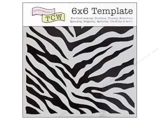 The Crafters Workshop Template 6x6 Zebra Print