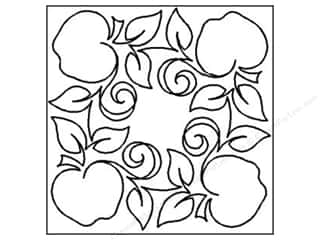 Quilting Creations Stencil Apple Orchard #1 Blk 7""