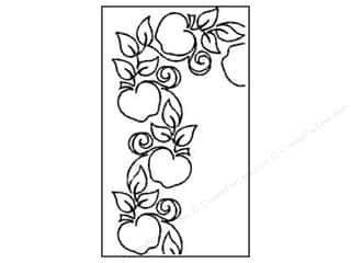 Fruit & Vegetables: Quilting Creations Stencil Apple Orchard Border 4 in.