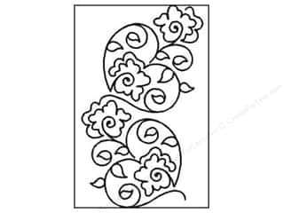 Flowers Sewing & Quilting: Quilting Creations Stencil Topiary Hearts Border 7 in.