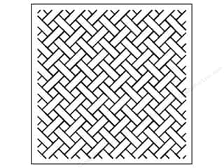Quilt Stencil  Background: Quilting Creations Stencil Basket Weave Bkgrnd5/8""