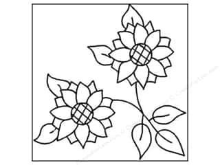 Quilting Creations Stencil Sunflower Duet Blk 10""