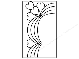 Quilt Stencil  Borders: Quilting Creations Stencil Heart Swag Border 3.5""