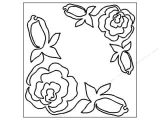 Quilting Creations Stencil Rose Corners 7&quot; &amp; 10&quot;