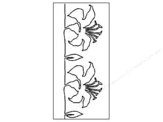 Quilt Stencil  Borders: Quilting Creations Stencil Graceful Lily Border 5""