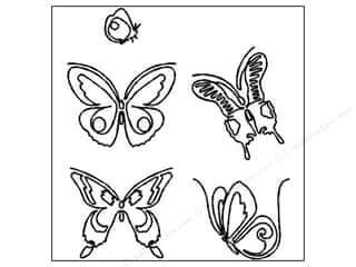 Quilt Stencil  -border: Quilting Creations Stencil Butterflies 4 and 1 1/2 in.
