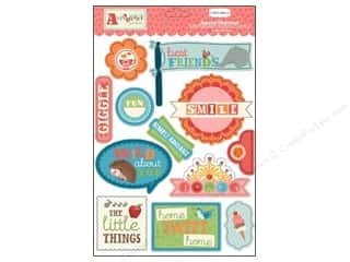 Carta Bella Dimensional Stickers: Carta Bella Layered Chipboard Alphabet Junction