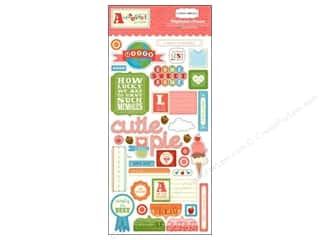 Carta Bella Dimensional Stickers: Carta Bella Chipboard Accents Alphabet Junction