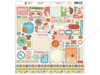 Carta Bella Stickers: Carta Bella Sticker 12 x 12 in. Alphabet Junction Element (15 sets)