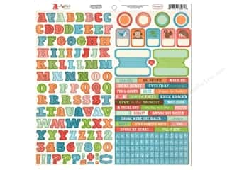 Carta Bella Stickers: Carta Bella Sticker 12 x 12 in. Alphabet Junction Alphabet (15 sets)