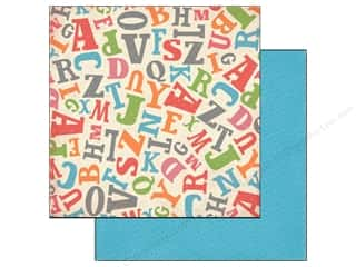Carta Bella ABC & 123: Carta Bella 12 x 12 in. Paper Alphabet Junction Tossed Letters (25 pieces)