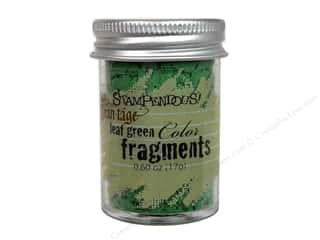 Clearance Fran-tage Color Fragments: Stampendous Fran-Tage Color Fragments LeafGrn.60oz