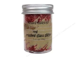 Clearance Basic Components: Stampendous Fran-Tage Glitter Glass 1.41oz Red