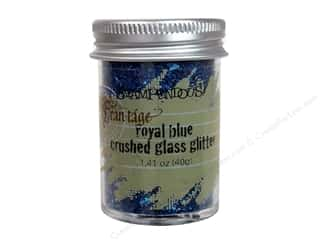 Stampendous Craft & Hobbies: Stampendous Fran-Tage Glitter Glass 1.41oz Royal Blue