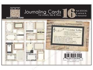 Clearance Bazzill Lickety Slip Journaling Cards: Bazzill Journaling Cards 4 x 6 in. Timeless 16 pc.