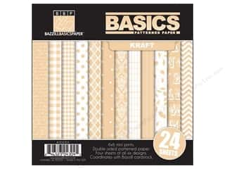 Bazzill 6 x 6 in. Multi Pack Basics 24 pc. Kraft