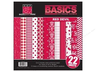 Bazzill Multi Pack 12x12 22pc Basics Red Devil
