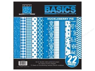 Bazzill Multi Pack 12x12 22pc Basics Huckleberry