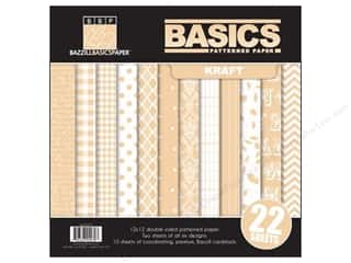 Weekly Specials Card Making: Bazzill Multi Pack 12x12 22pc Basics Kraft